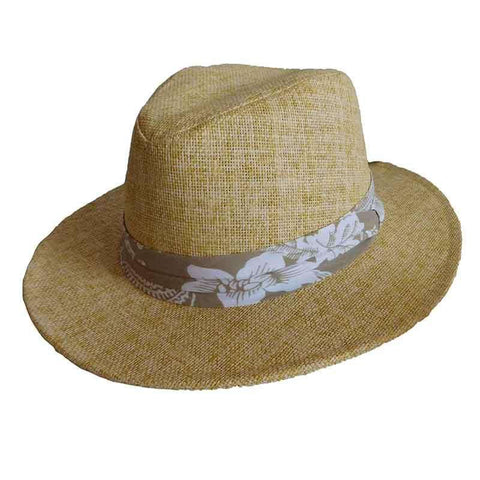 Matte Toyo Safari Hat with Tropical Band - ST Hats