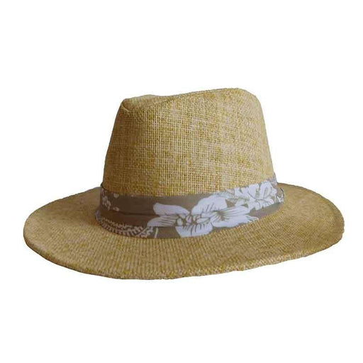 Matte Toyo Safari Hat with Tropical Band - ST Hats - SetarTrading Hats