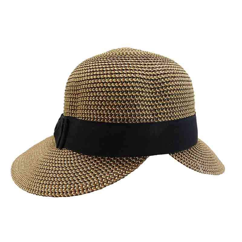 V-Back Summer Facesaver Hat by JSA for Women