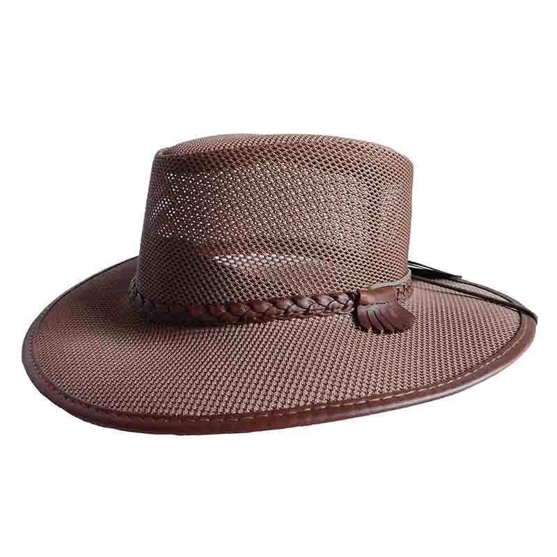Soaker SolAir Breathable Mesh Shade Outback Hat by Head 'N Home - Brown