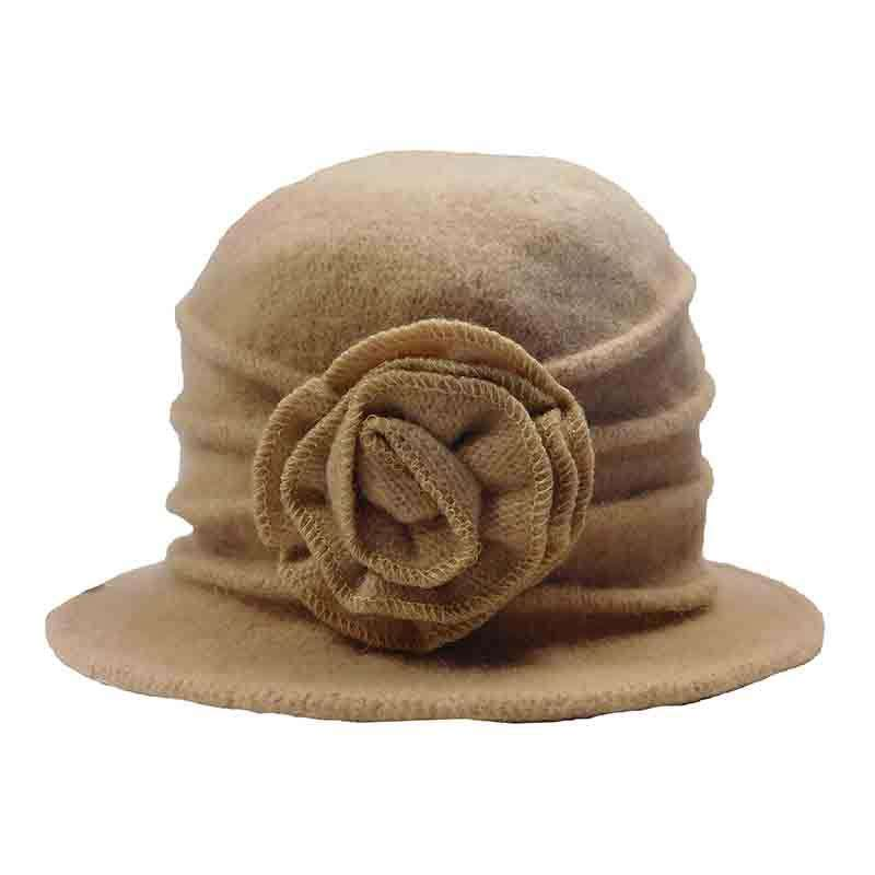 Pleated Rose Cloche Beanie Hat by JSA for Women - SetarTrading Hats