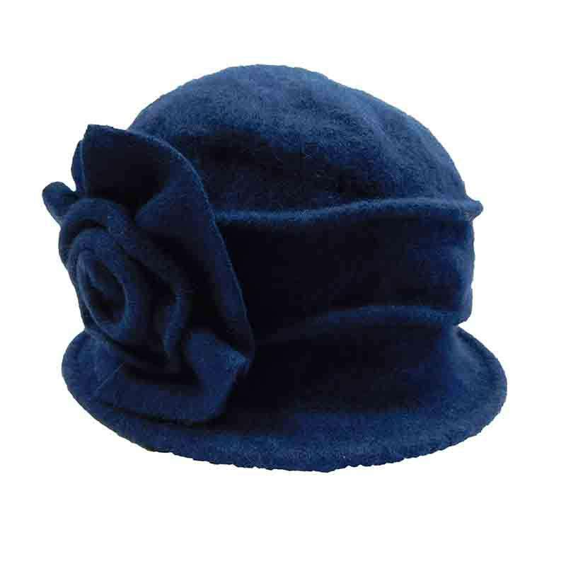 Pleated Cloche Beanie with Large Flower by JSA for Women - SetarTrading Hats