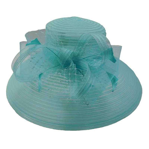 Tiffany Style Crinoline Kentucky Derby Hat - Scala Collezion