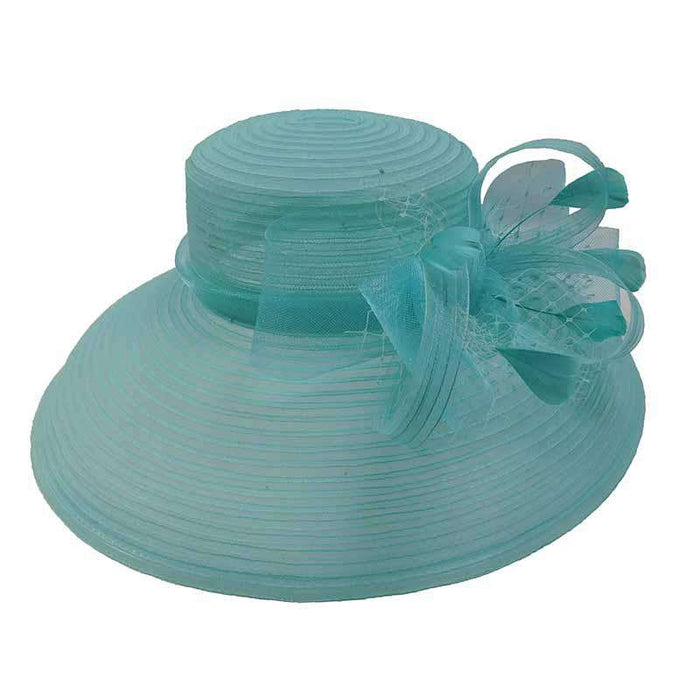 Tiffany Style Crinoline Kentucky Derby Hat - Scala Collezion - SetarTrading Hats