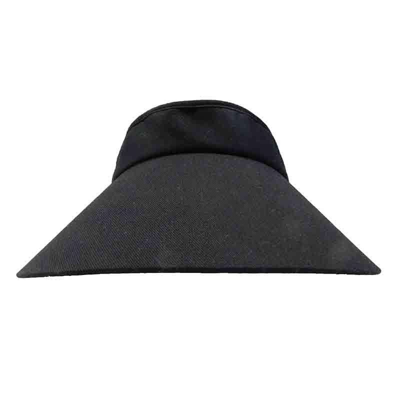 "Wide Brim Cotton Clip-On Sun Visor - MG - 4"" Peak - SetarTrading Hats"