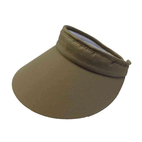 "Wide Brim Cotton Clip-On Sun Visor - MG - 4"" Peak"