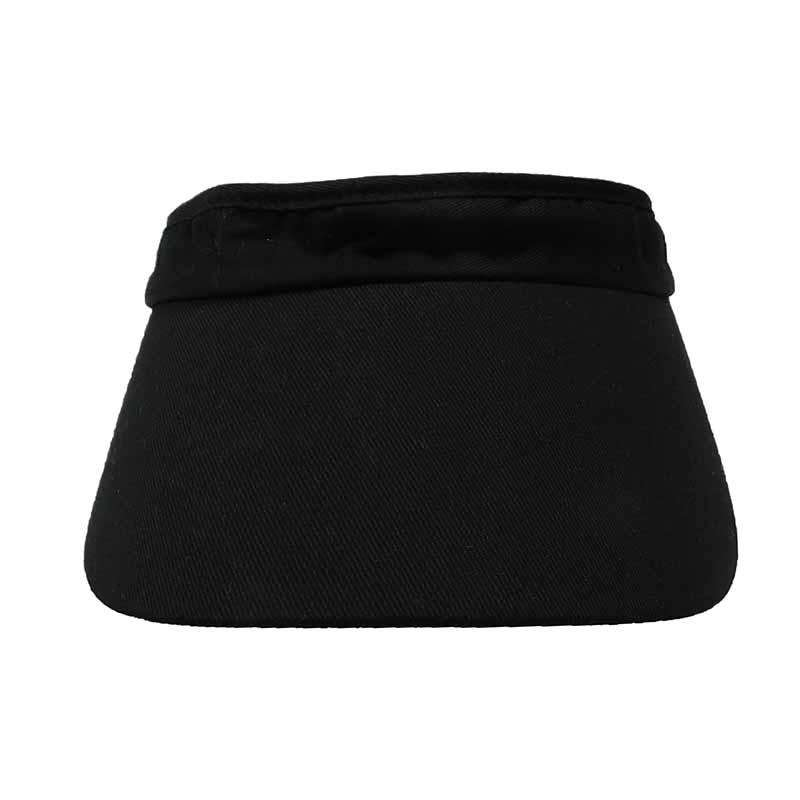Curved Bill Cotton Sun Visor with Coil Lace Closure - SetarTrading Hats