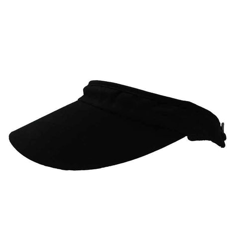 Curved Bill Cotton Sun Visor with Coil Lace Closure