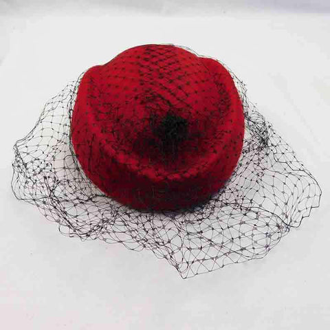 Juliet Stewardess Cap - Wool Felt with Netting by Callanan
