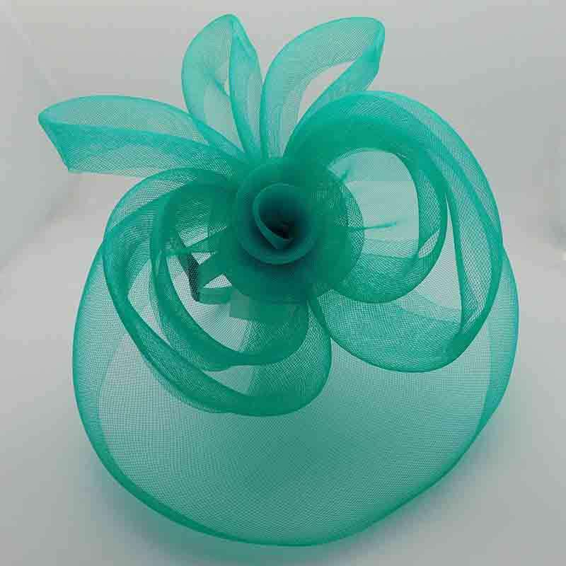 Large Tulle Fascinator with Loop Detail