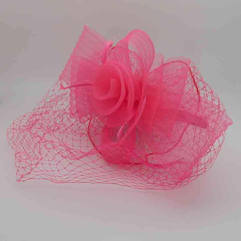 Pleated Bow Fascinator with Netting Veil