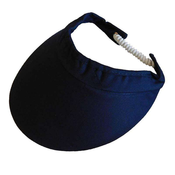 Wide Brim Sun Visor with Coil Lace by Andrea's Hat Shop