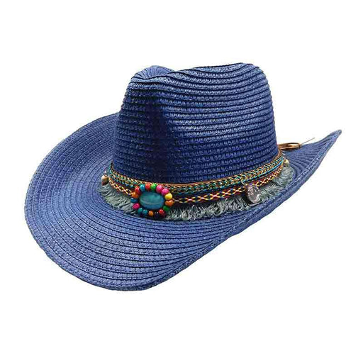 Women's Cowboy Hat with Tassel Band - Jeanne Simmons Hats