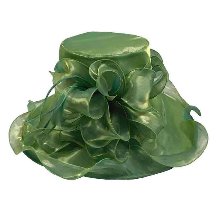 Organza Dress Hat with Loopy Bow Accent