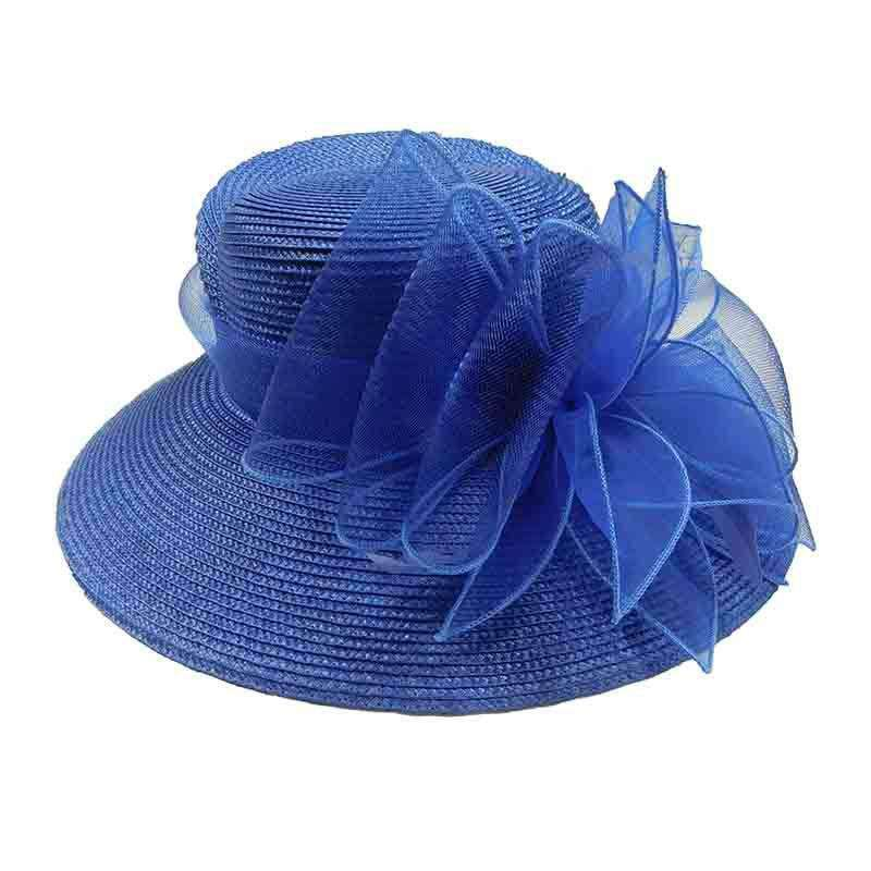 Structured Crown Dress Hat with Tulle Accent - Something Special Colleciton