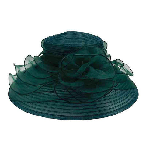 Crinoline Dress Hat with Organza Lily Accent