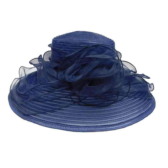 Crinoline Dress Hat with Organza Lily Accent - SetarTrading Hats