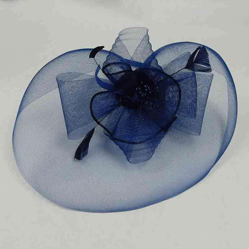 Pleated Mesh and Petite Beads Fascinator