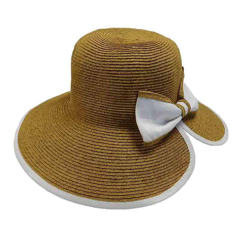 Ribbon Bow V-Back Sun Hat