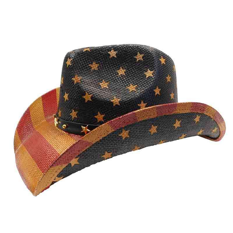 USA Cowboy Hat with Star Studded Band