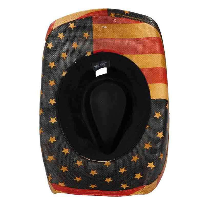 USA Patriotic Cowboy Hat with Star Studded Band - Milani