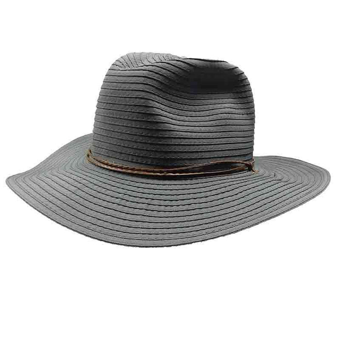 fa190f04 Women's Wide Brim Floppy Caps Packable Straw Sun Hat Summer UV Protection  Hats with Chin Strap