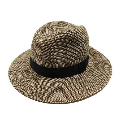 Tweed Straw Safari Hat