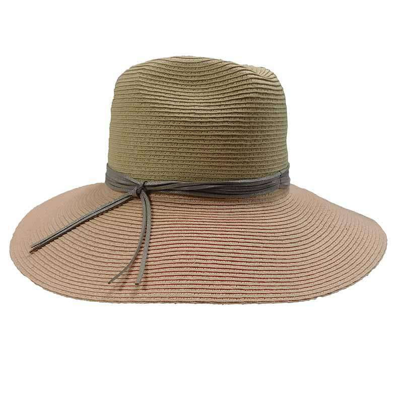 097c86f07d7 Two Tone Safari Hat with Metallic Band by San Diego Hat Company