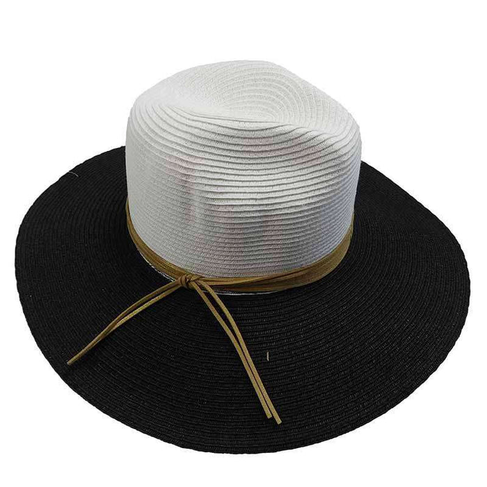 Two Tone Safari Hat with Metallic Band by San Diego Hat Company