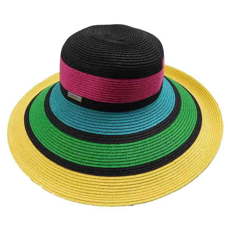 7d1b6f28dace8 Colorful Striped Summer Floppy Hat by San Diego Hat Company - SetarTrading  Hats