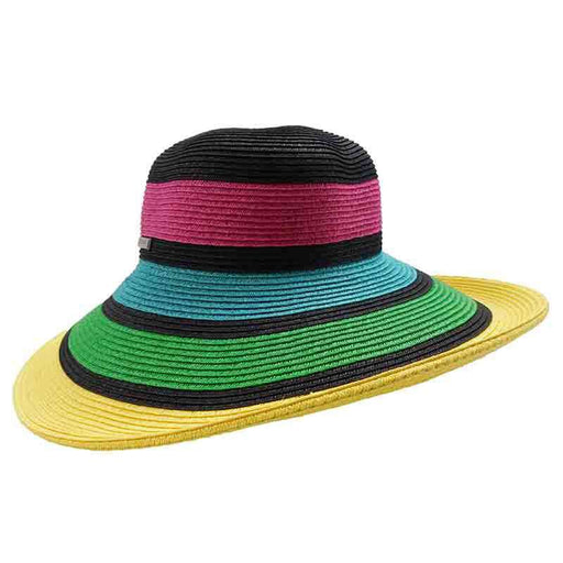 Colorful Striped Summer Floppy Hat by San Diego Hat Company - SetarTrading Hats