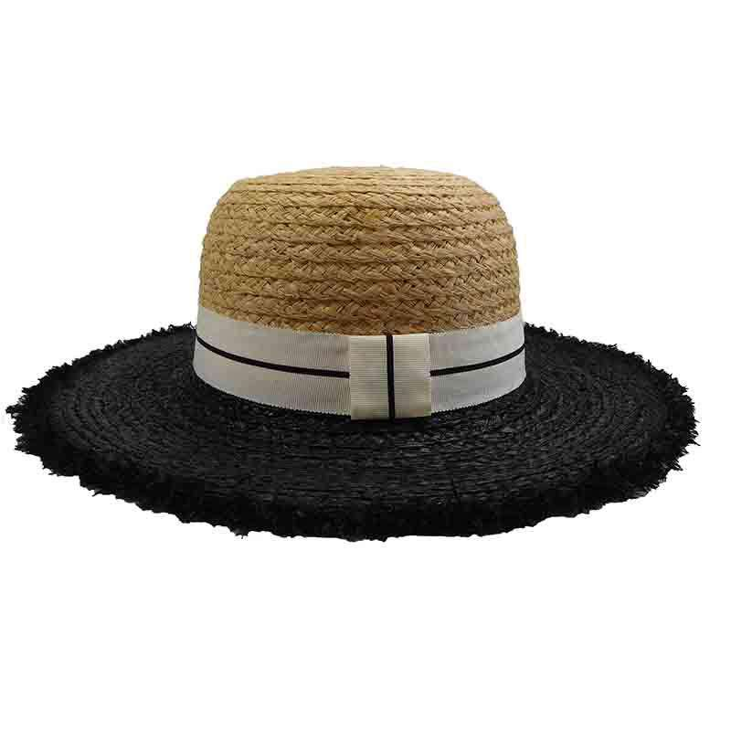 Two Tone Raffia Floppy Hat by Sun Styles