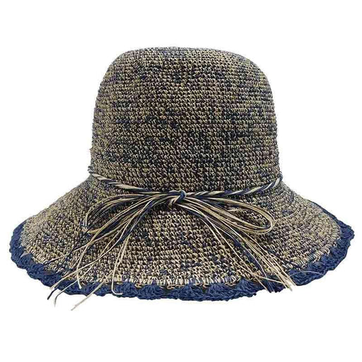 Packable Crochet Raffia Summer Cloche Hat by Sun Styles