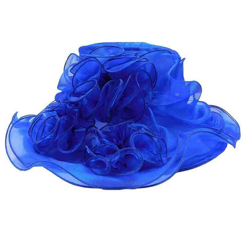 Triple Ruffle Flower Organza Hat