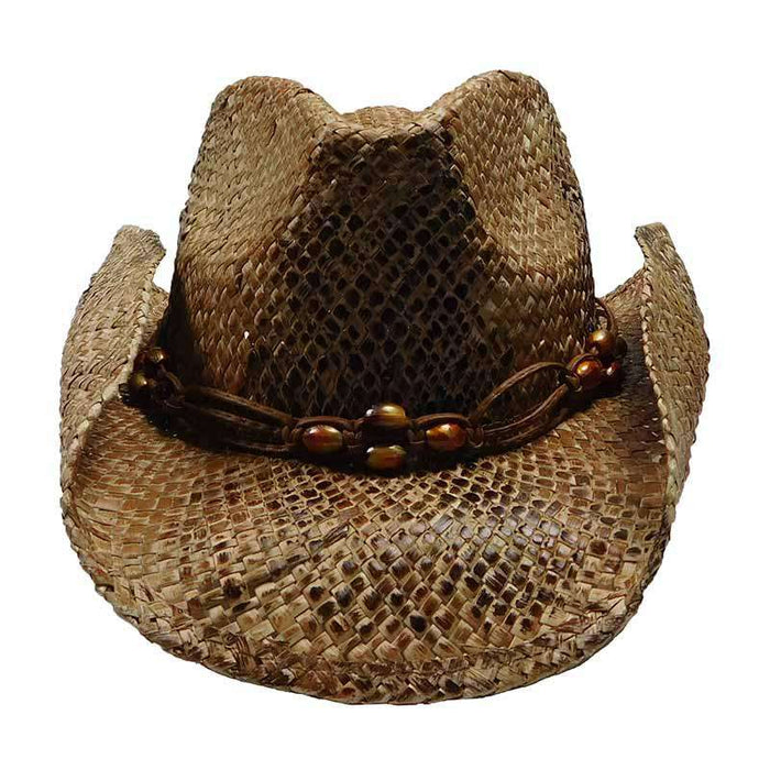 Seagrass Western Hat with Macrame Band - Scala Hats