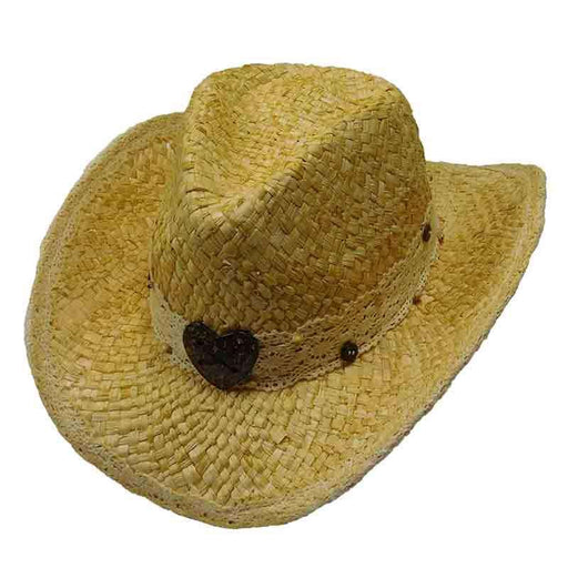 Maize Western Hat with Lace Band by Tropical Trends