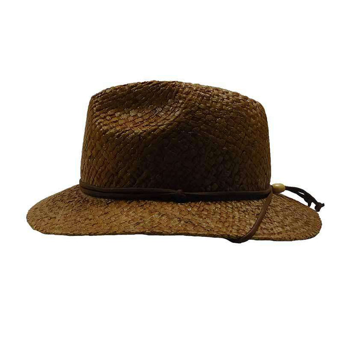 Woven Raffia Safari Hat with Chin Cord - DPC Global Trends