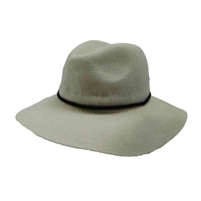 Chenille Safari Hat with Braided Suede Band by Scala - SetarTrading Hats