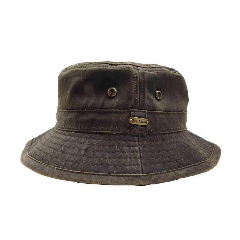Weathered Cotton Bucket Hat - Legendary Stetson Hats for Men 2715b93db81