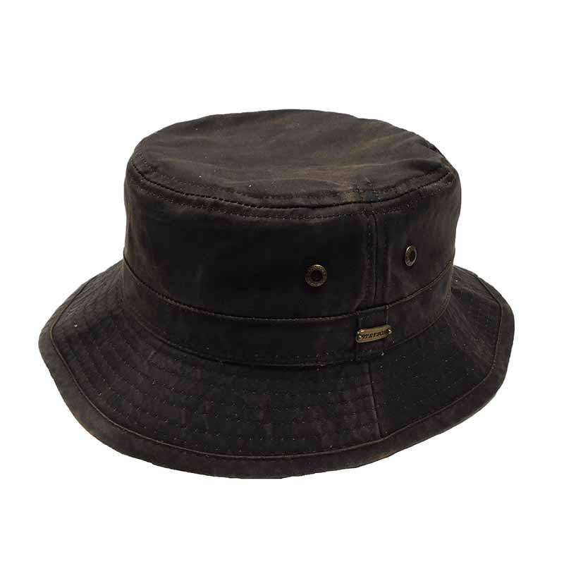 Weathered Cotton Bucket Hat - Legendary Stetson Hats for Men cf2287ca3a1