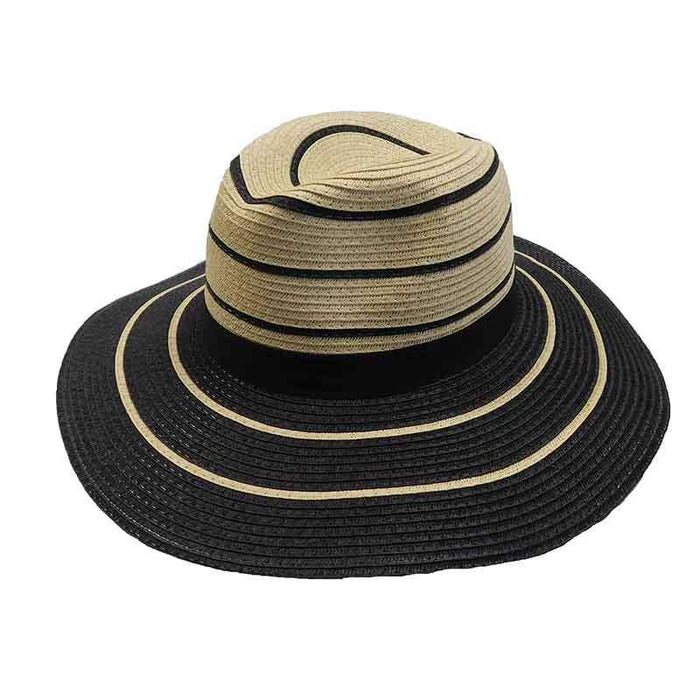 Black Striped Summer Safari Hat - Jones New York - SetarTrading Hats