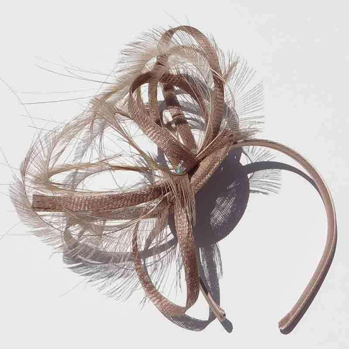 Fascinating Peacock Feather Fascinator - Scala - SetarTrading Hats
