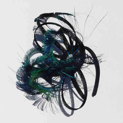 Fascinating Peacock Feather Fascinator - Scala