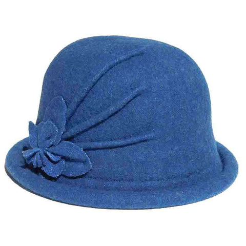 Curled Brim Wool Bowler Hat by Adora®