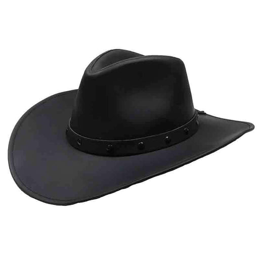 Jackaroo Black Western Leather Hat by Jars