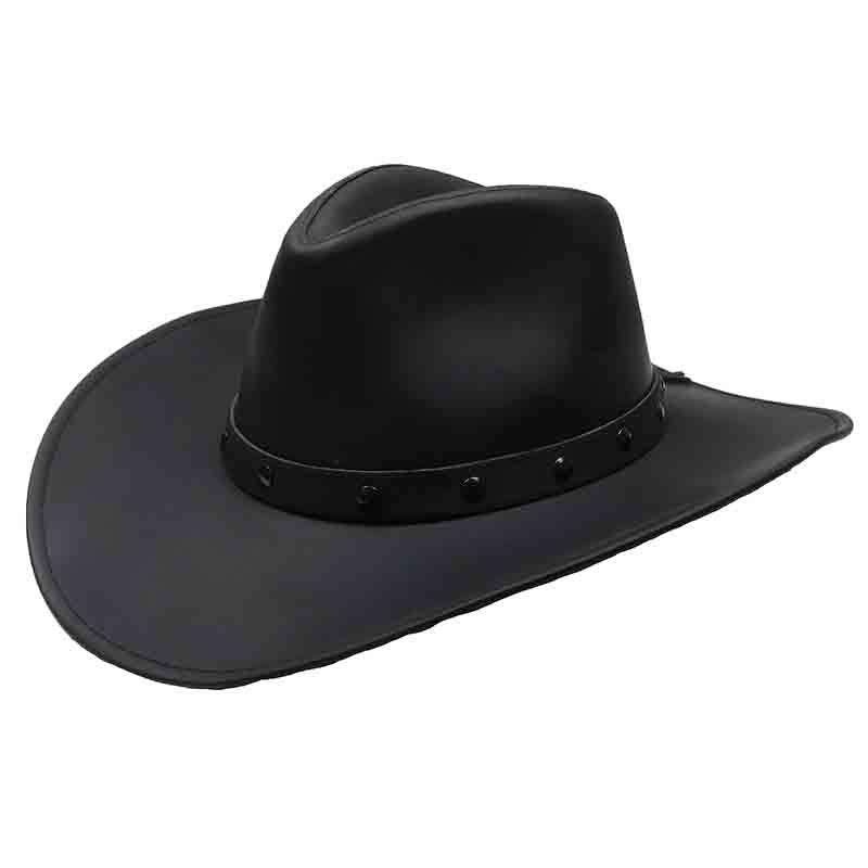 Jackaroo Black Leather Western Cowboy Hat by Jars