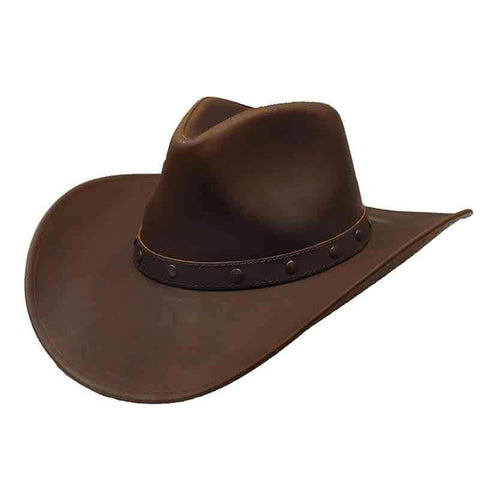Jackaroo Brown Leather Western Hat by Jars