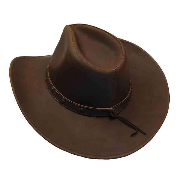 Jackaroo Brown Western Leather Hat by Jars