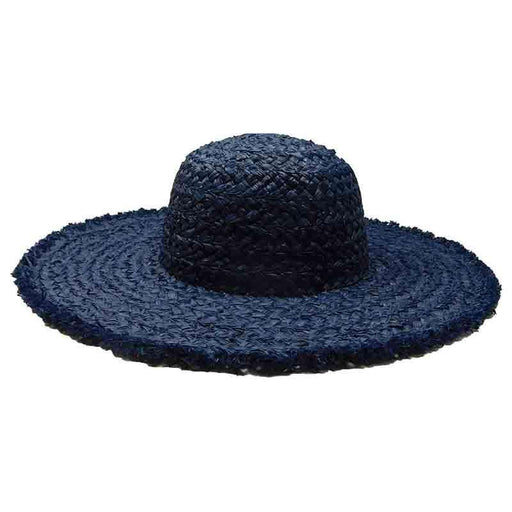 Handwoven Natural Raffia Straw Floppy Hat - Boardwalk