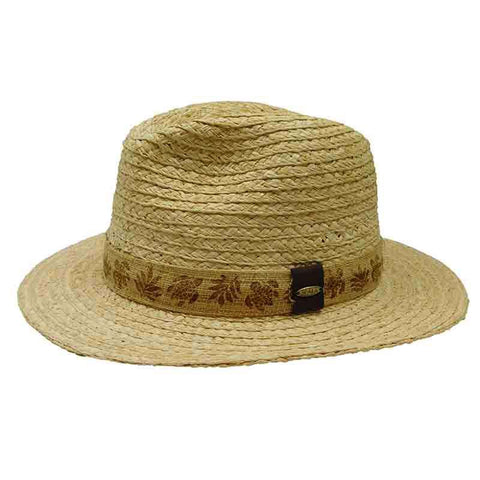 Rio Grande - Raffia Safari Hat with Burnt Band by Scala